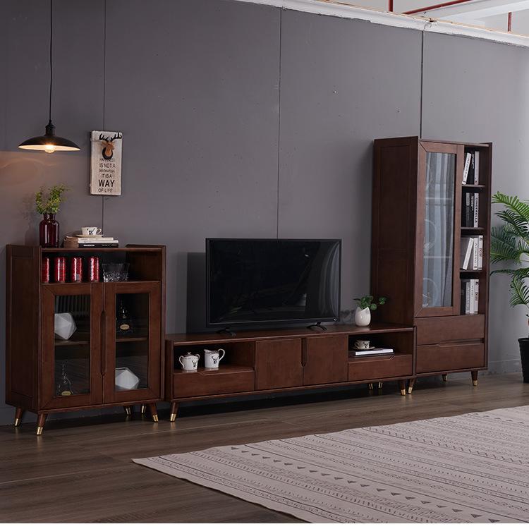 北欧轻奢家具 纯实木电视柜 地柜组合 简约影视柜