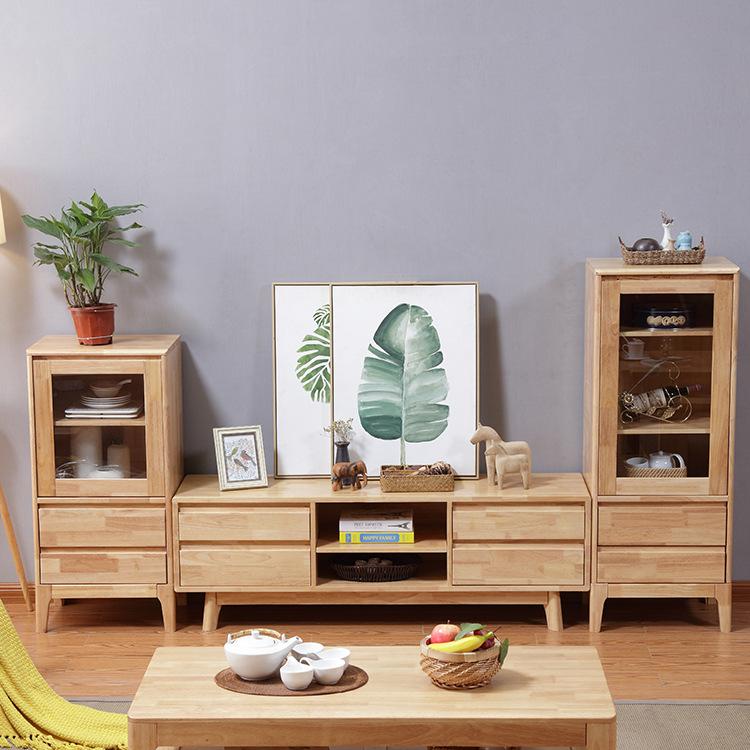 批发 北欧电视柜组合实木视听柜现代简约 小户型客厅家具厂家直销