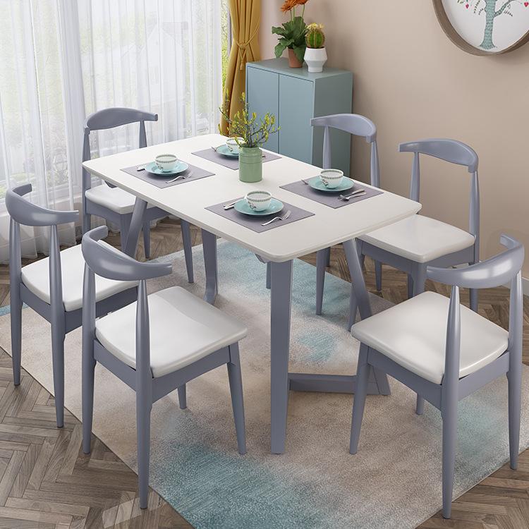 橡木餐桌椅 西餐桌 1.3米饭桌 V字桌 西餐桌