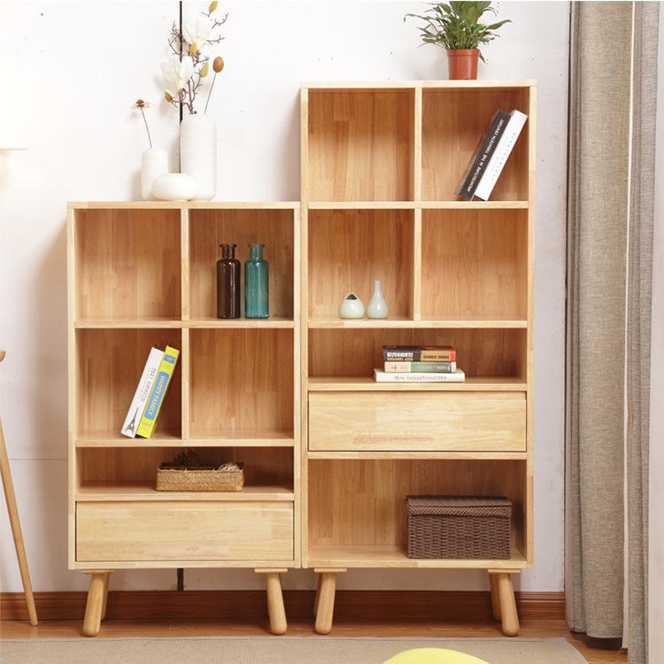 北欧书架全实木书柜组合图书柜简约储物收纳柜小户型家具厂家直销