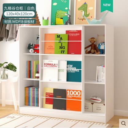 儿童书架柜学生落地置物架储物幼儿园绘本架收纳柜书柜子