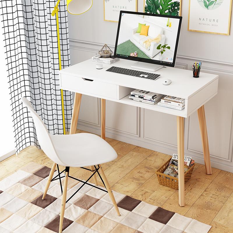 北欧电脑桌代加工 家用办公桌贴牌生产创意家具简易书桌子实木