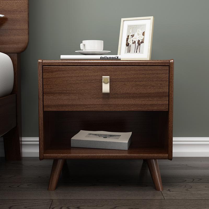 新中式实木床头柜卧室家具非洲胡桃木酒店宾馆床头柜厂家直销