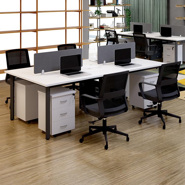 办公桌 职员办公家具屏风组合办公桌四人位办公电脑桌椅组合简约
