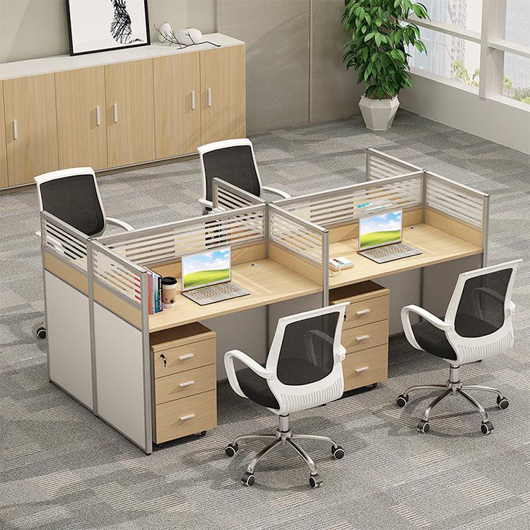 办公家具 职员屏风办公桌单人位员工卡位座电脑桌椅组合 办公桌