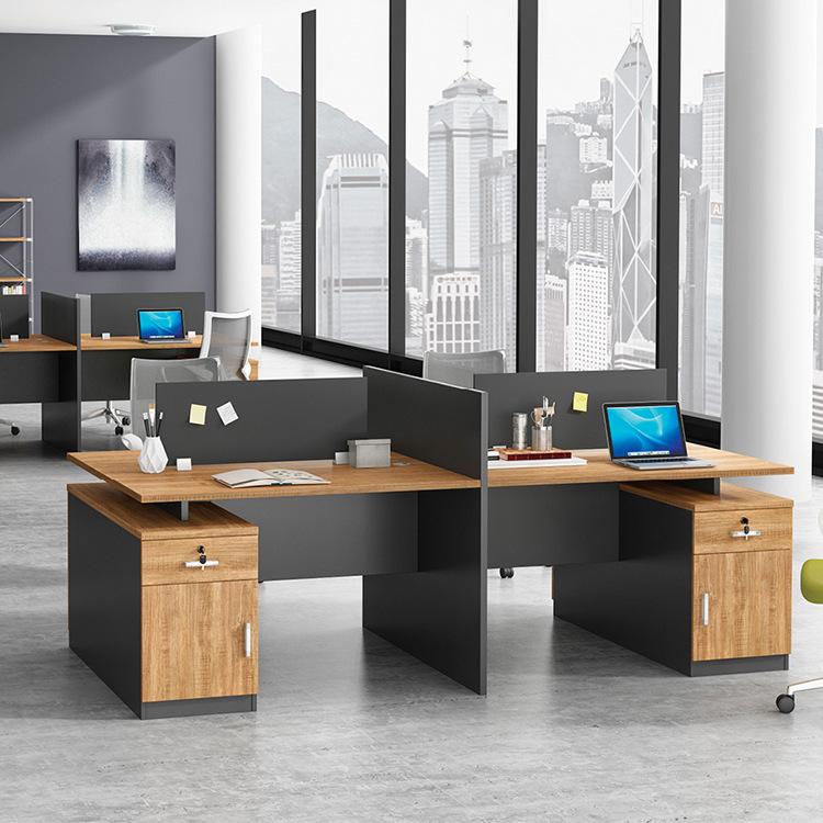 深圳职员办公桌 现代简约屏风员工位4人办公家具桌椅四人位卡座
