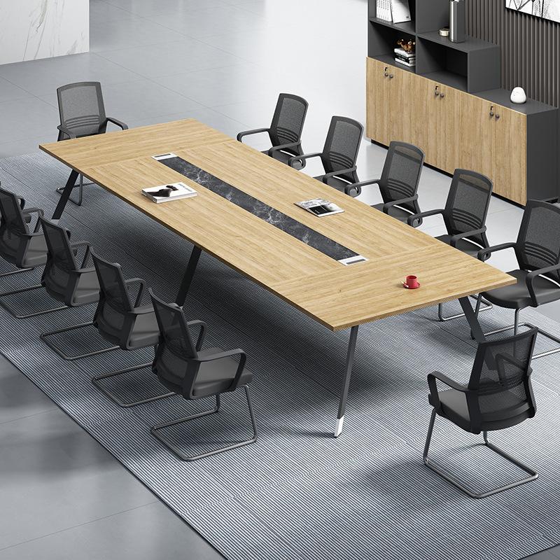 新款会议桌长桌简约现代办公家具大小型洽谈桌培训桌会议桌椅组合