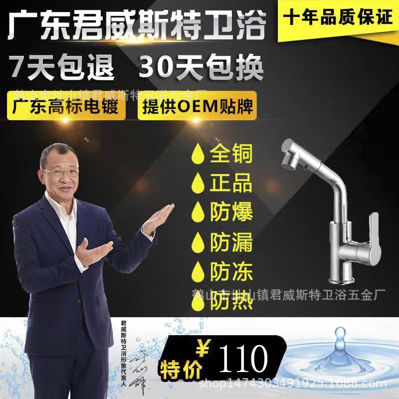 广东开平无铅铜厨房菜盆抽拉水龙头水槽冷热水龙头直销批发