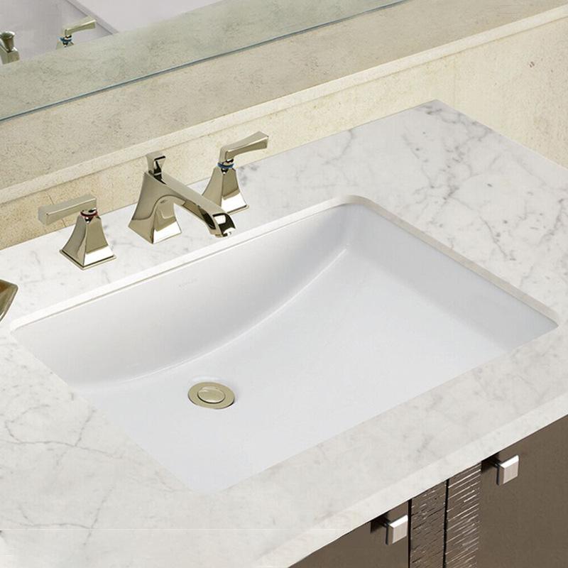 陶瓷台下盆方形洗手盆嵌入式面盆卫生间新中式大小尺寸盆厂家贴牌