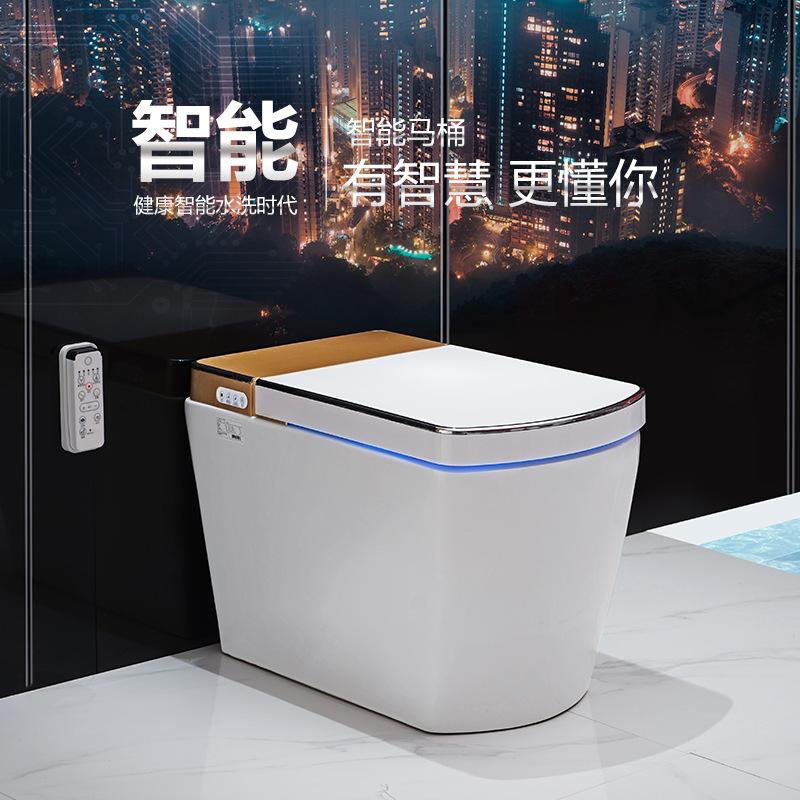 曼高卫浴厂家 智能马桶电动一体式座便器 感应自动翻盖即热坐便器