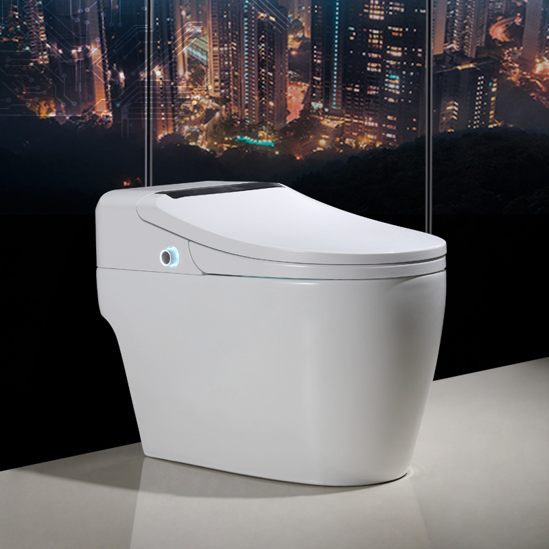 曼高卫浴厂家直销 家用蓄热式手动翻盖旋钮冲水电动一体智能马桶