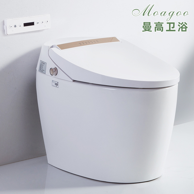 曼高卫浴 家用蓄热式坐便器手动翻盖脚感冲水 无水压要求智能马桶