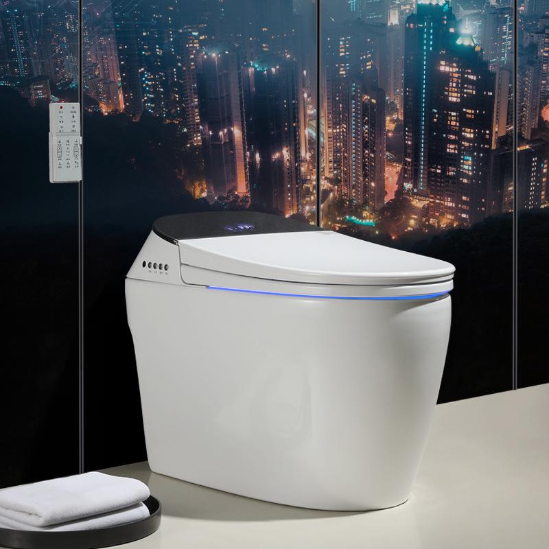 曼高卫浴家用即热式电动坐便器全自动感应翻盖翻圈一体式智能马桶