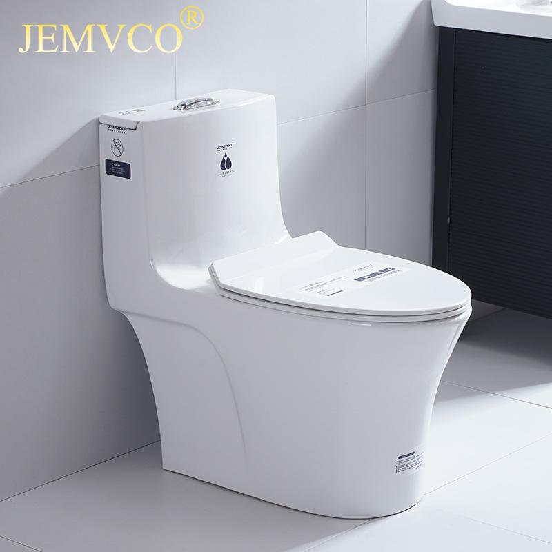 JEMVCO普通马桶超漩虹吸连体坐便器抽水马桶曼高卫浴厂家工程款