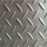 04不锈钢花纹板定制扁豆圆点柳叶四连排201 304不锈钢防滑板加工