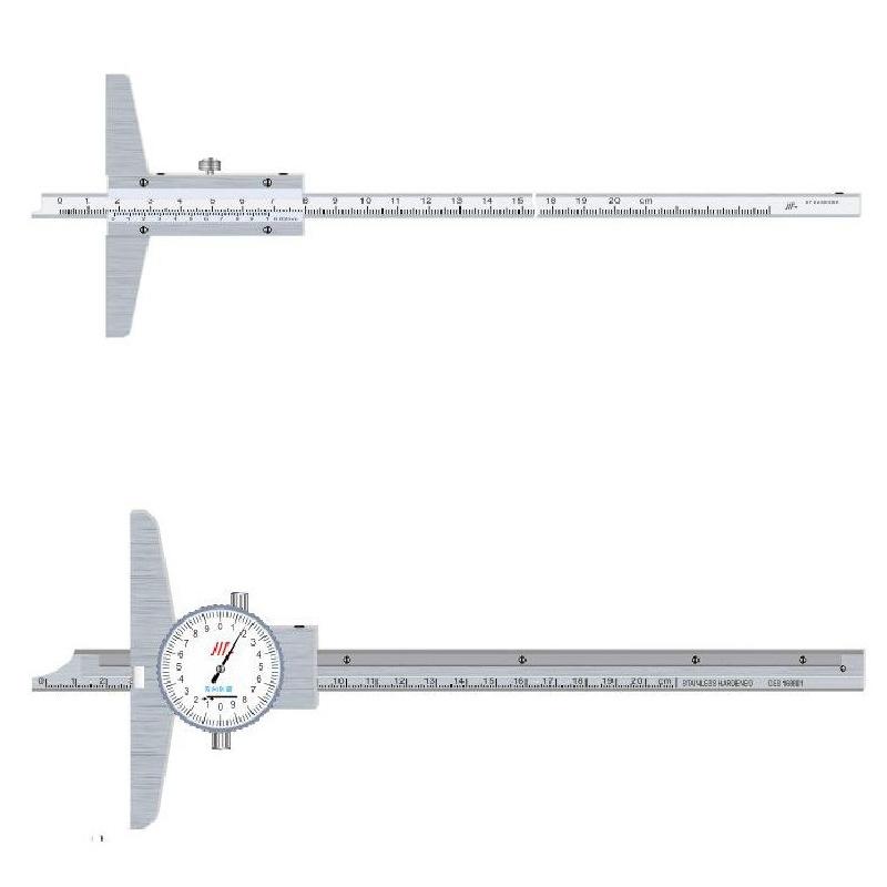 成量深度游标卡尺深度尺0-150游标卡尺300深度卡尺0-500mm