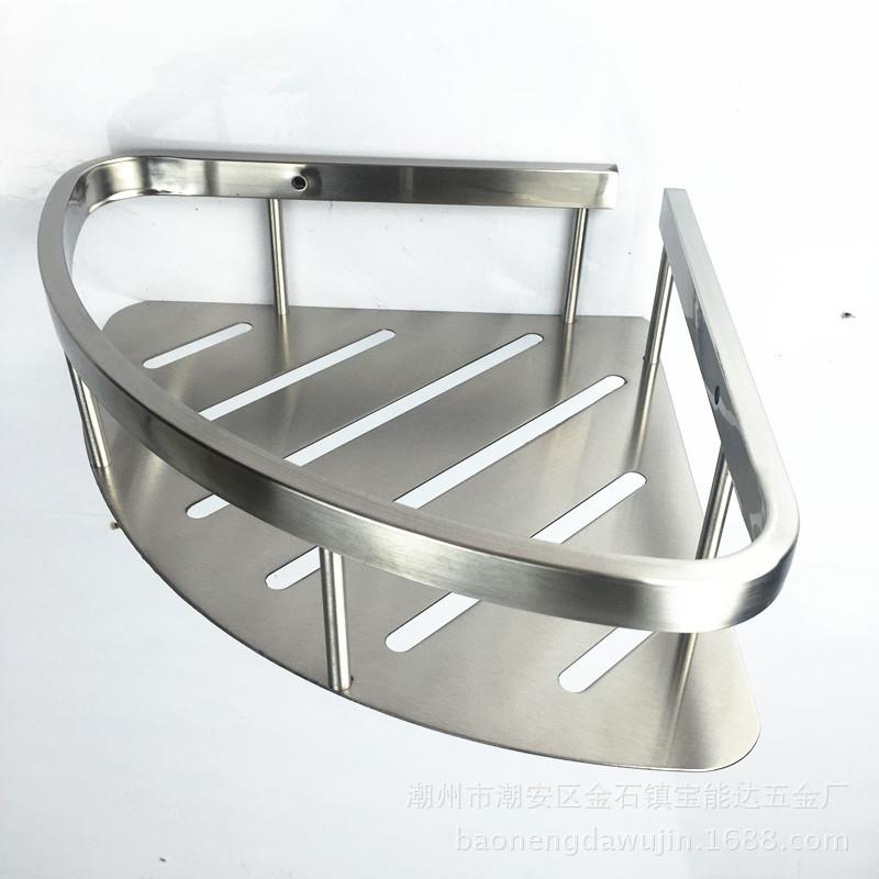 厂家直销SUS304不锈钢浴室角架 三角置物架 单层角架