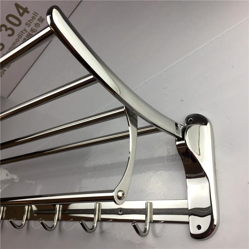 厂家直销精铸座304不锈钢折叠浴巾架卫生间挂件浴室毛巾架毛巾杆