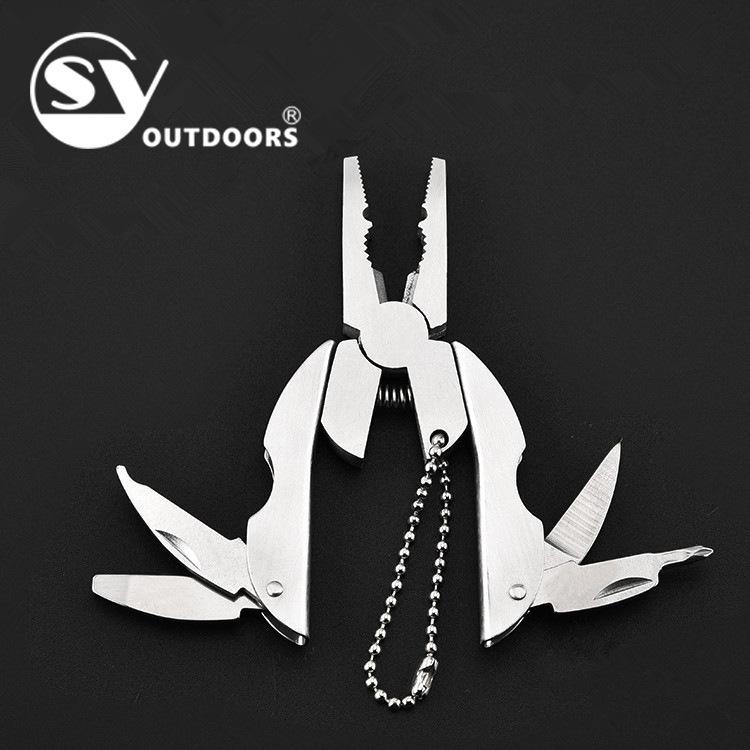 不锈钢多功能刀钳户外组合五金工具便携折叠迷你钳圣甲虫乌龟钳