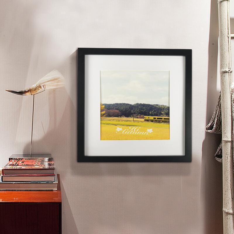简约正方形6寸781024寸实木相框厂家挂墙摆台平板木质制画框创意