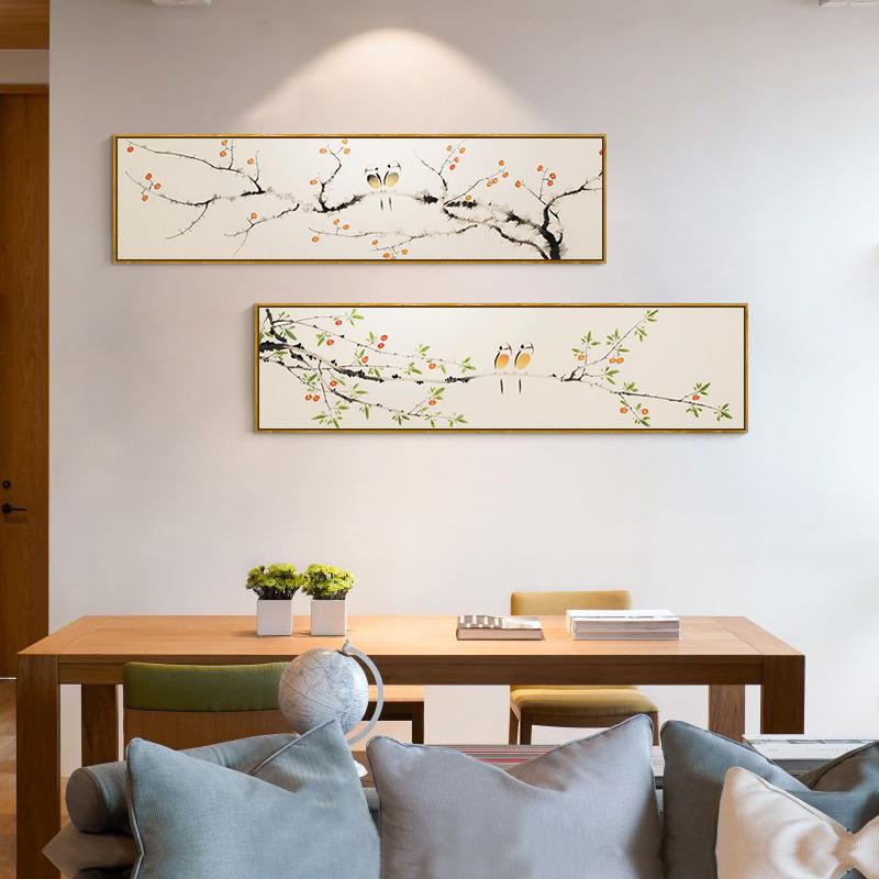 比翼连枝卧室床头装饰画沙发背景墙壁画现代新中式酒店宾馆挂画