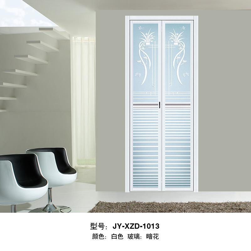 广东厂家直销铝合金小折叠门厕所门卫生间折叠门钢化玻璃门双开门