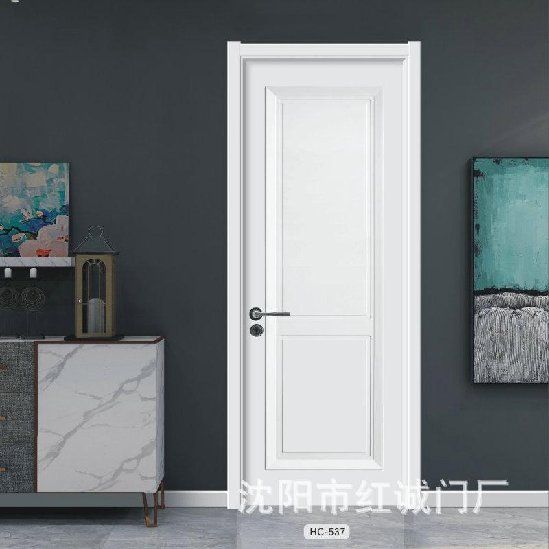 现代轻奢实木复合套装免漆木门 静音隔音平开单开门 生态无漆木门