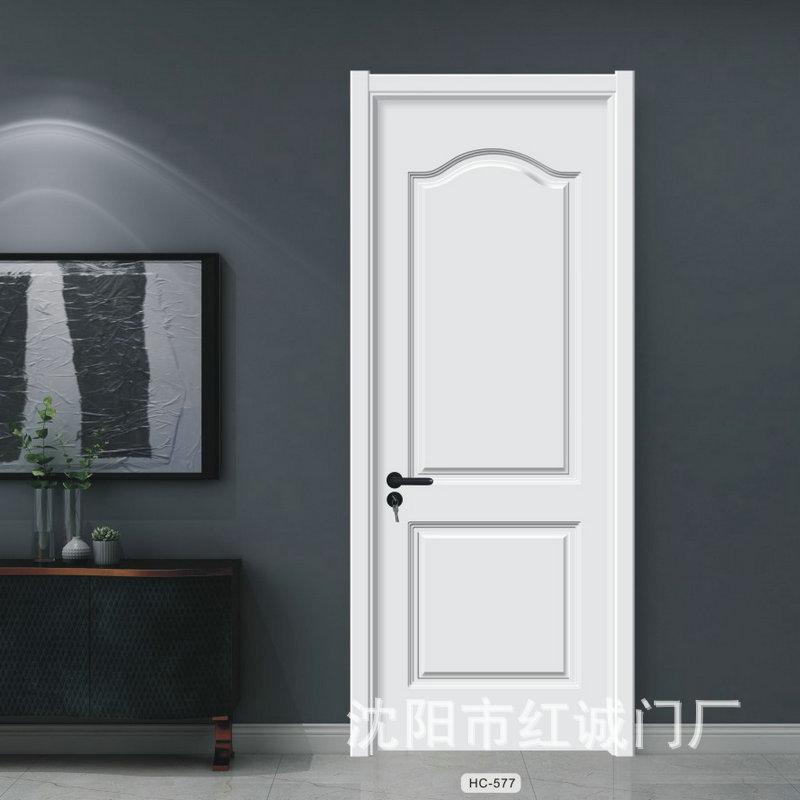 厂家定制手动隔音原木门 复合免生态木门工程门 卧室平开整套门