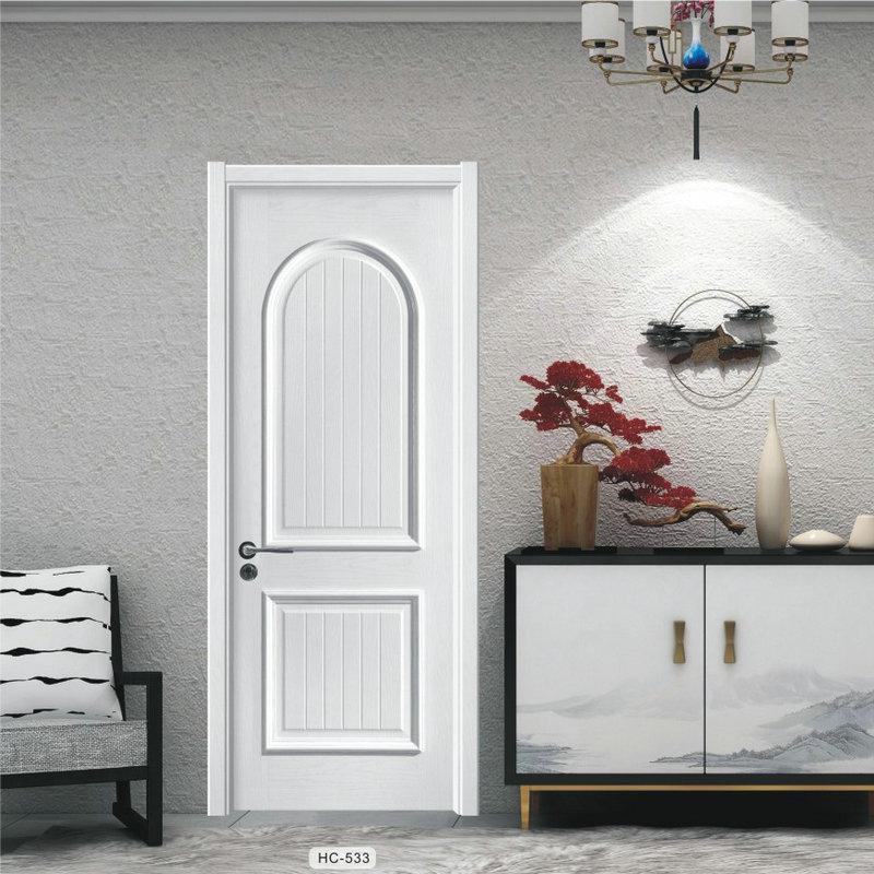 法式轻奢室内免漆木门 定制实木复合门 卧室房间隔音复合木门