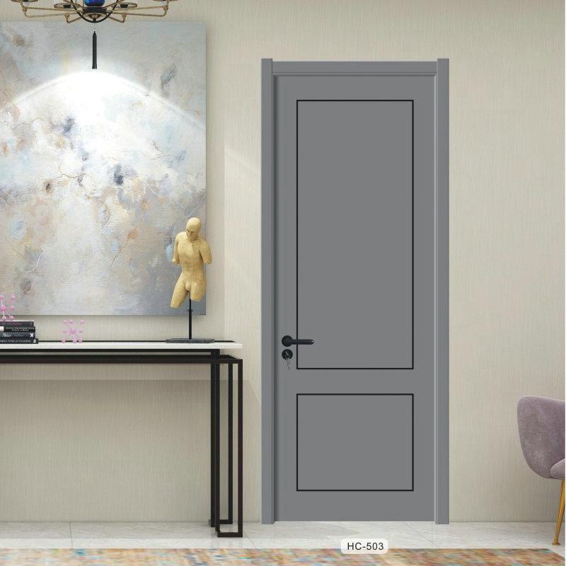 意式极简轻奢窄边实木复合免漆木门 公寓酒店房门 室内套装生态门