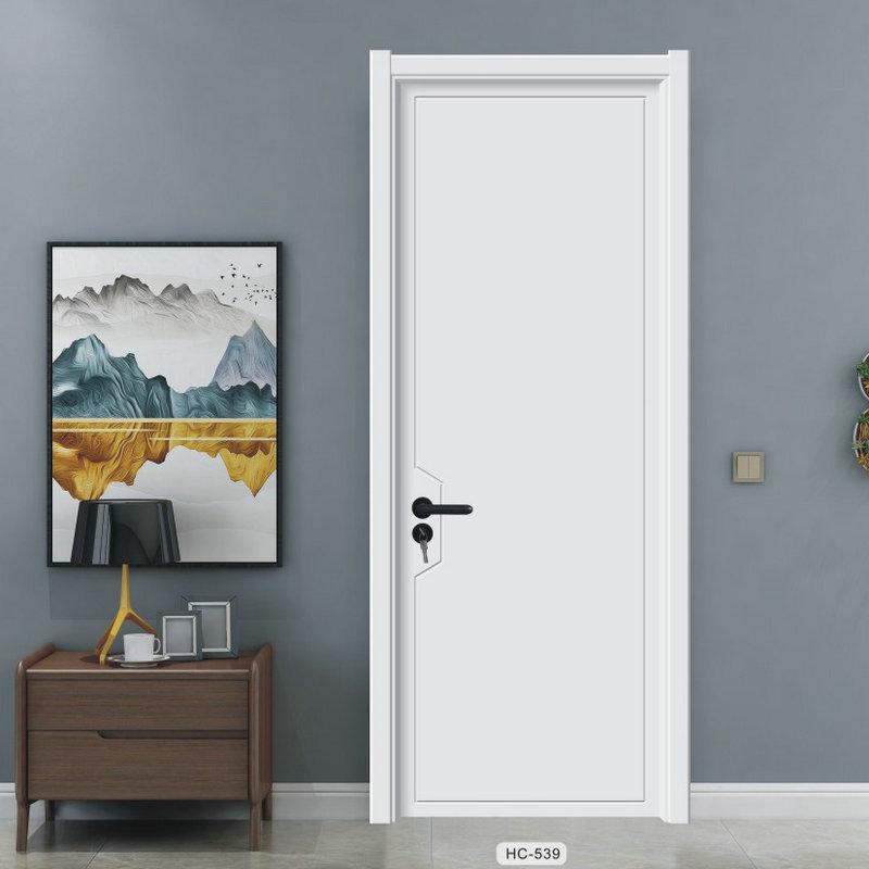厂家定制房间平开门 实木复合烤漆门 室内套装卧室门隔音木门
