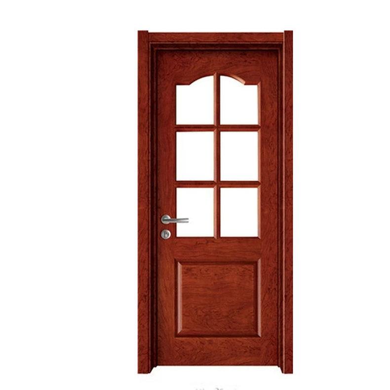 中式实木复合防盗门 幼儿园玻璃镶嵌安全门 居家卫生间卧室门