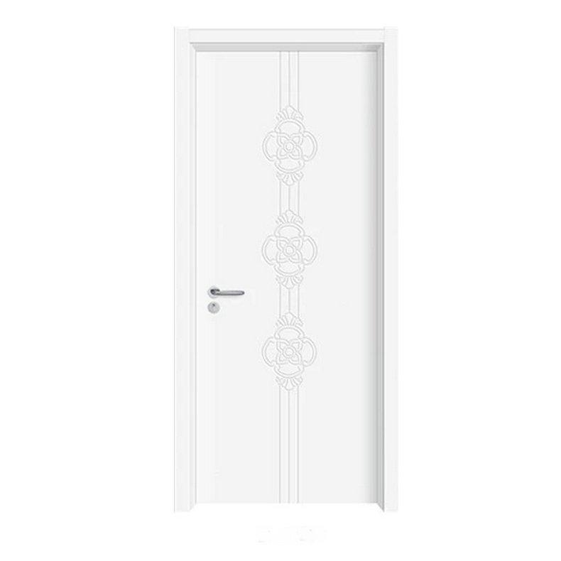 白色居家进户住宅室内门 欧式简约室内安全门 实木复合烤漆门