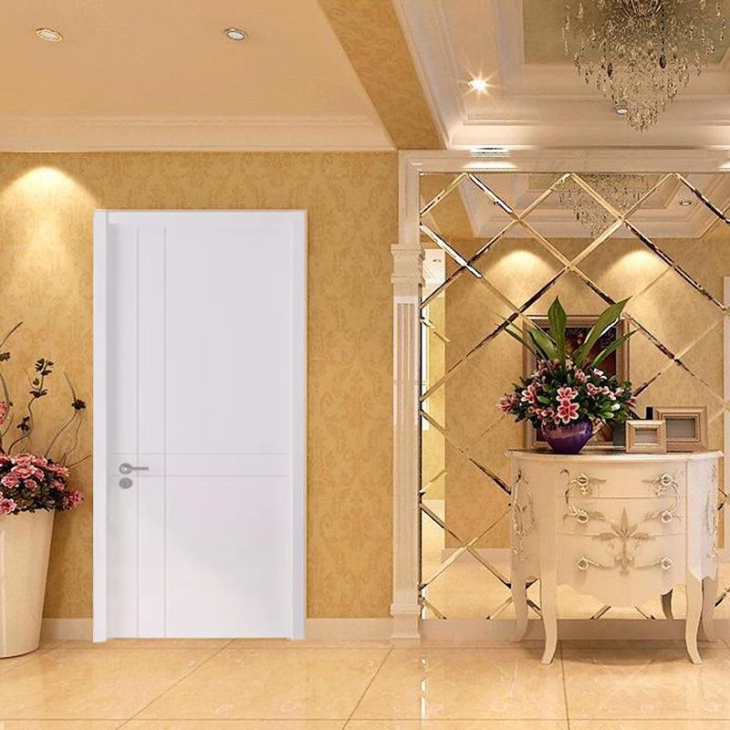 中式简约实木复合免漆门 别墅酒店卧室防盗门 实木雕花隔音门