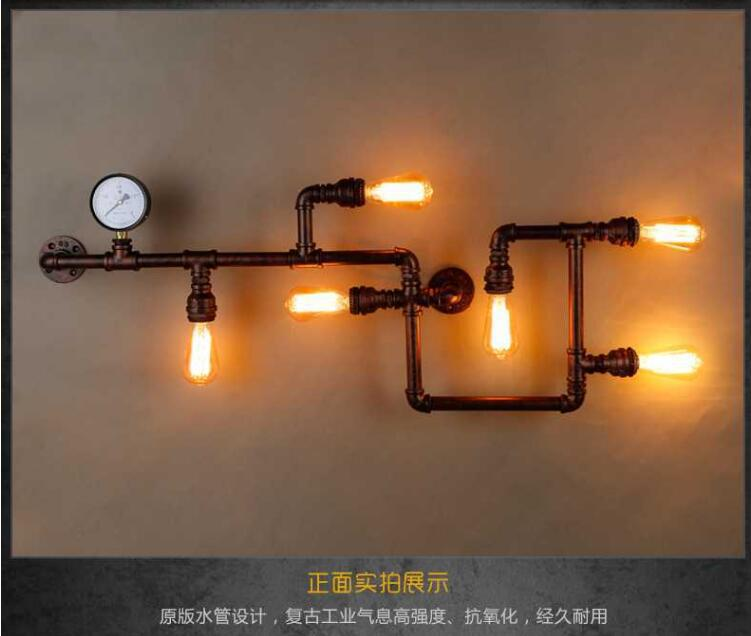 loft工业风客厅餐厅个性酒吧网咖服装店艺术怀旧创意水管壁灯具