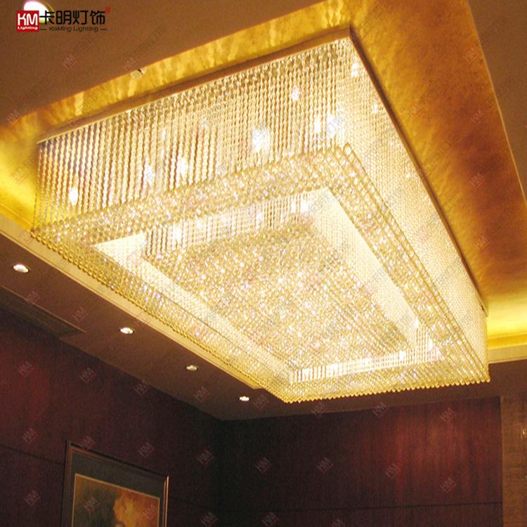 定制酒店大厅大型水晶灯宾馆售楼沙盘KTV会所大堂奢华水晶吸顶灯