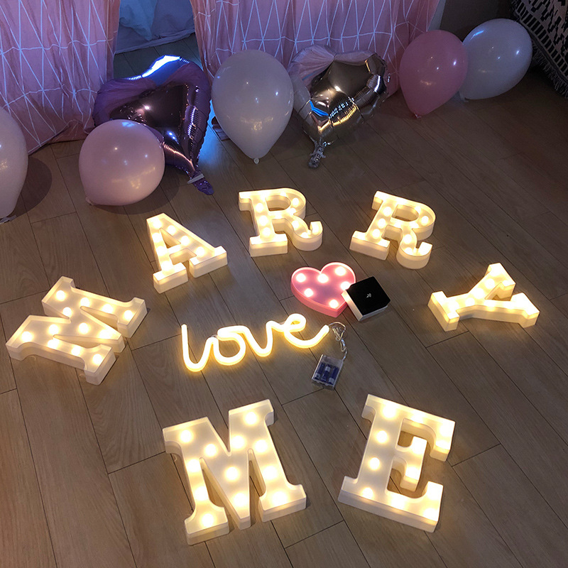 INS拍照道具字母灯LED地摊小夜灯圣诞夜市创意生日造型灯婚庆装饰