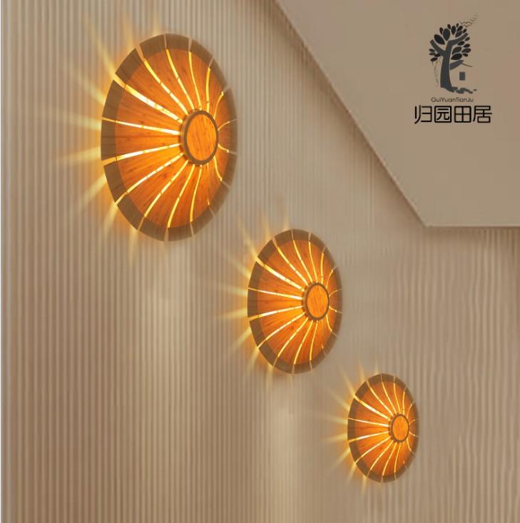 新中式壁灯楼梯过道灯背景墙灯创意个性艺术装饰灯具