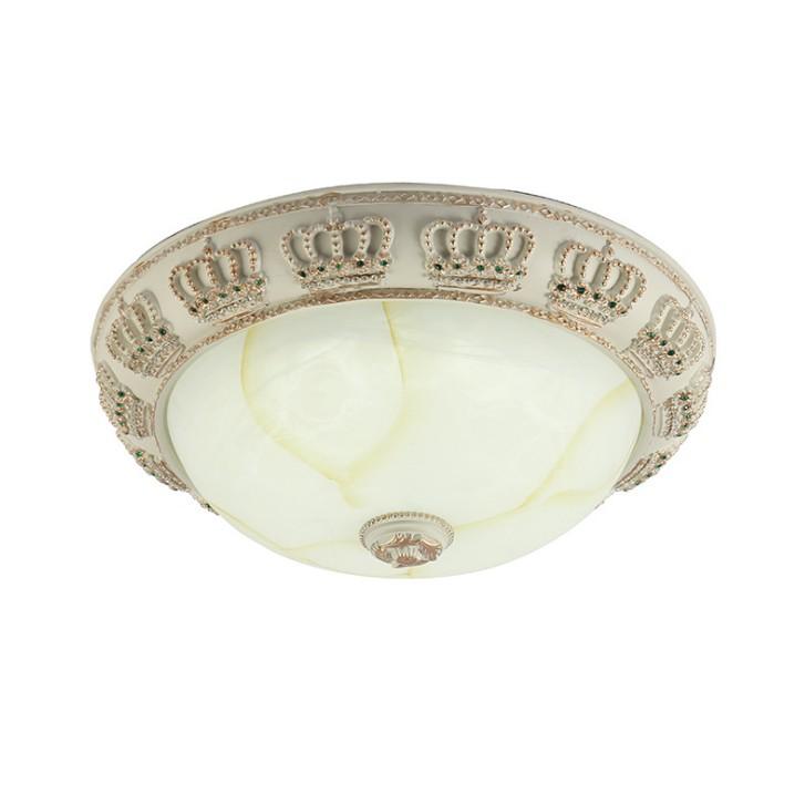 白色简欧树脂吸顶灯 欧式皇冠吸顶灯客厅书房餐厅卧室走廊通道灯