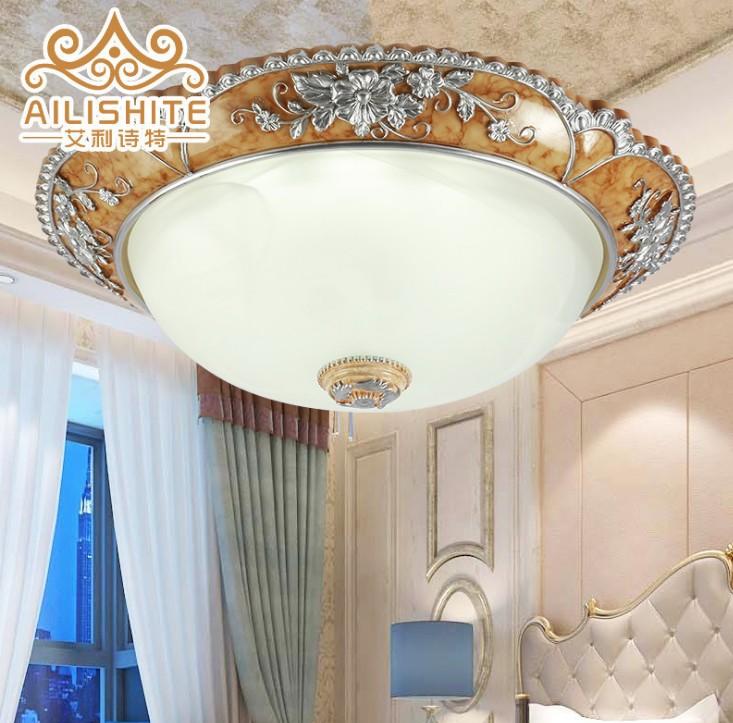 欧式圆形LED吸顶灯 精致雕花客厅卧室吸顶灯阳台玄关走廊吸顶灯