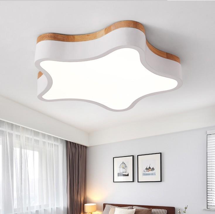 北欧马卡龙吸顶灯现代简约卧室灯男女孩房间灯创意星星儿童房灯具