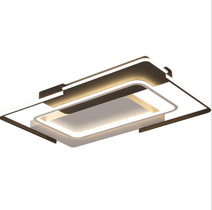 新款客厅灯 简约现代长方形led灯具大气家用时尚创意个性吸顶灯