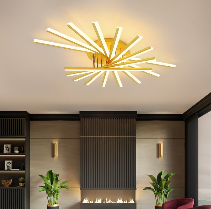 客厅灯 简约现代led吸顶灯创意家用轻奢卧室灯 新款北欧灯具批发