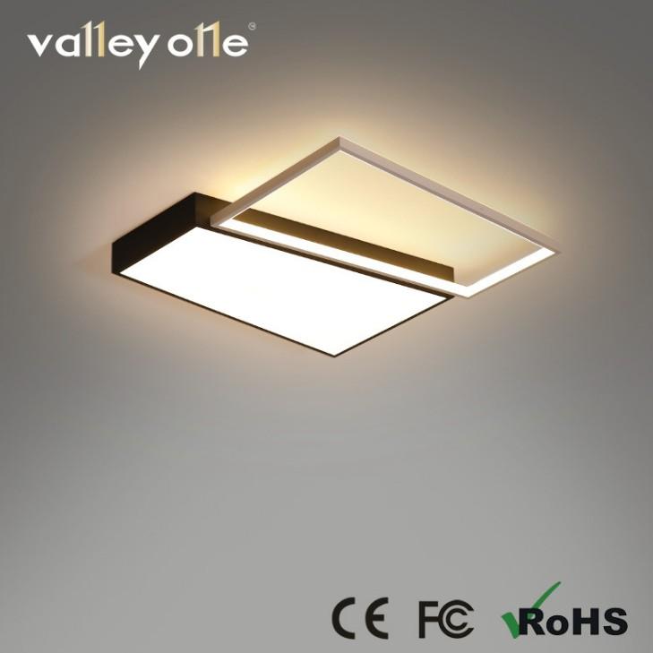 新款LED吸顶灯现代简约大气家用创意方形卧室灯小客厅灯具批发