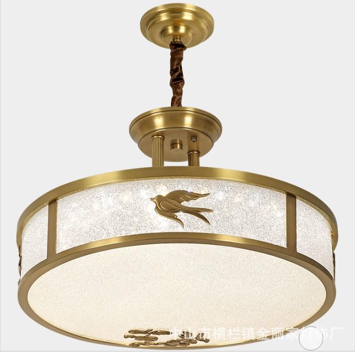 led吸顶灯超薄圆形全铜吸顶灯简约现代客厅卧室过道玄关阳台灯具
