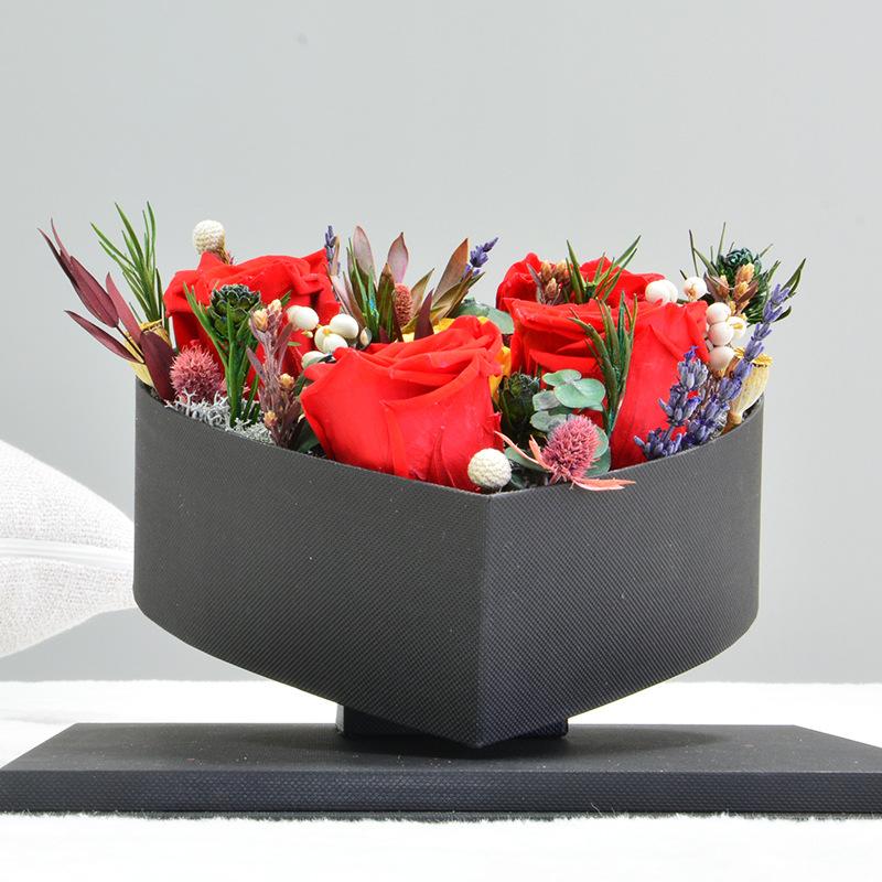一件代发 永生花礼盒玫瑰花盒520七夕情人节送女友送爱人创意礼物