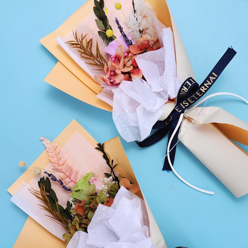 永生花干花花束玫瑰鲜花七夕情人节礼物送女生创意礼品教师节礼物