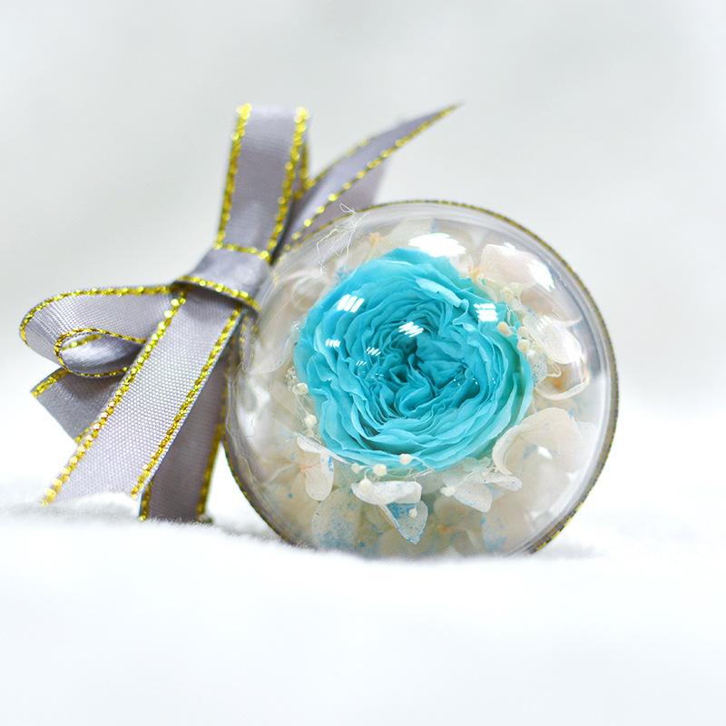 新款双面永生花钥匙扣挂包包挂饰情人节生日礼物伴手礼钥匙圈配件