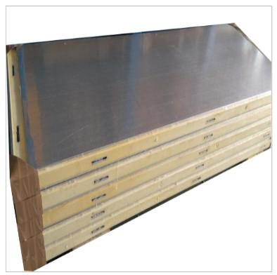 厂家供应冷库保温板 压花铝冷库板 高密度硬质聚氨酯冷库板